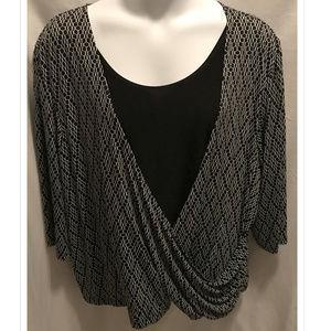 Size X 34/36W Maggie Barnes Top Slinky Stretchy